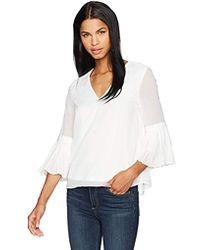 7bf5c3a3b5b Boohoo Freya Scallop Bardot Half Sleeve Top in White - Lyst
