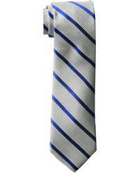 Izod Houndstooth Stripe Tie - Blue