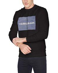 Calvin Klein - Institutional Logo Crew Neck Sweatshirt - Lyst
