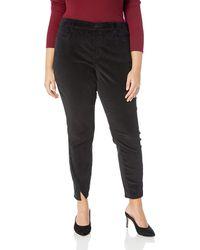NYDJ Plus Size Ami Skinny Velvet Jean With Side Seam Detail - Black