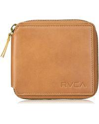 RVCA Mens Zip Around Wallet - Brown