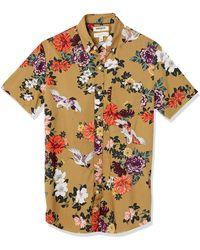 Goodthreads Slim-Fit Short-Sleeve Printed Poplin Shirt Button-Down-Shirts - Multicolore