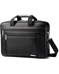Samsonite Luggage Classic Business Two Gusset Briefcase - Black