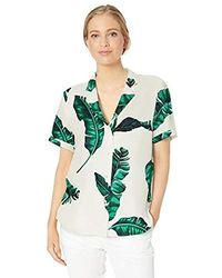 28 Palms Standard 100% Silk Tropical Hawaiian Shirt - Green