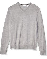 Calvin Klein Merino Sweater Full Zip - Brown