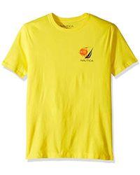 Nautica - Short Sleeve 100% Cotton Fish Print Series Graphic Tee Shirt - Lyst