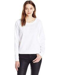 Armani Exchange - | Scoop Neck Long Sleeve Super Soft Swetshirt - Lyst
