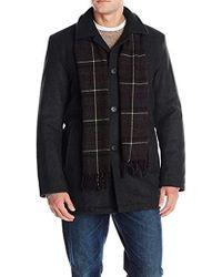 Dockers - Wool Melton Walking Coat With Scarf - Lyst