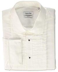 Calvin Klein - Regular Fit Tuxedo Spread Collar Dress Shirt - Lyst