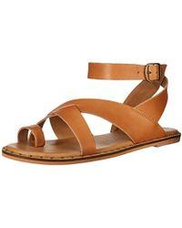 aafddbb4d32 Lyst - Lucky Brand Women S Fairfaxx Toe Thong Flat Sandals in Pink