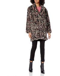 Steve Madden Faux Fur Fashion Jacket - Multicolor