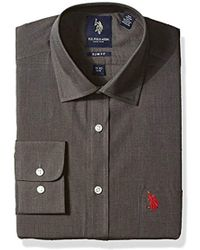 U.S. POLO ASSN. - End Slim Or Regular Fit Semi Spread Collar Dress Shirt - Lyst