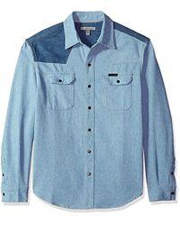 Calvin Klein - Western Denim Shirt Two-tone - Lyst