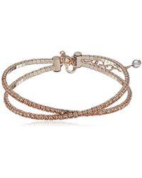 Napier - Crystal Flex Coil Bracelet, Rose Gold - Lyst