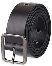 NYDJ 100% Leather Slim Skinny Waist Dress Belt For Jeans Pants - Black