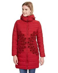 Desigual Coat Mandala - Red