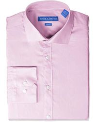 Vince Camuto Slim Fit Spread Collar Solid Dress Shirt - Pink