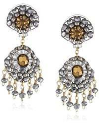 Miguel Ases - Pyrite Small Touch Of Sparkle Drop Earrings - Lyst
