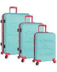 Tommy Bahama 3 Piece Spinner Luggage Set - Blue