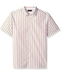 Theory - Murrary Bold Stripe Short Sleeve - Lyst
