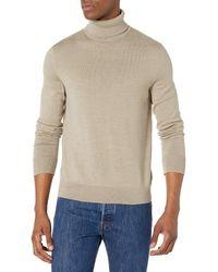 Calvin Klein The Extra Fine Merino Turtleneck Sweater - Natural