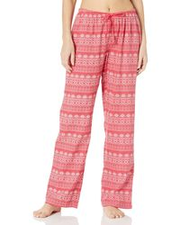 Mae Flannel Pant With - Red