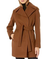 Trina Turk Beverlee Wrap Coat - Brown
