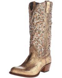 Frye Deborah Studded Tall Western Boot - Multicolor
