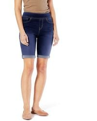 Signature by Levi Strauss & Co. Gold Label Totally Shaping Pull On Bermuda Shorts - Blue