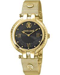 Roberto Cavalli Women's Analog Quartz Mesh Bracelet Watch, 40mm - Metallic