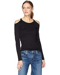 349e9c8f314e0 Michael Stars - Shine Long Sleeve Crew Neck With Cold Shoulder - Lyst