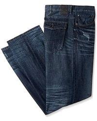 Sean John Big And Tall Flap Pocket Hamilton Jean - Blue