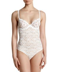 DKNY Classic Lace Body Suit - White