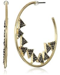 Jessica Simpson - Pave Triangles In A Gold Earrings - Lyst