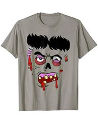 MCM Zombie Face Costume T-shirt - Blue