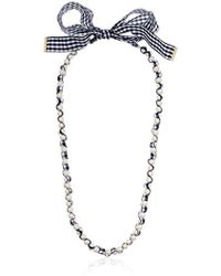 """Kate Spade - """"long Necklace Pretty Pearly Long Navy Multi Necklace - Lyst"""