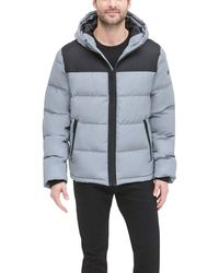 DKNY - Shawn Quilted Mixed Media Hooded Puffer Jacket - Lyst