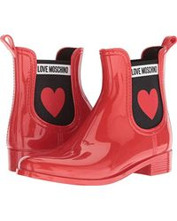 Love Moschino - Rain Boot (red) Women's Rain Boots - Lyst