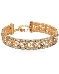 Napier - Gold-tone And Crystal Coil Cuff Bracelet - Lyst