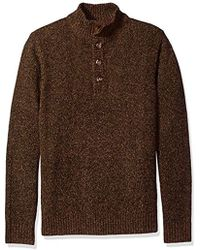 G.H.BASS - Mountain Button Mock Long Sleeve Sweater - Lyst