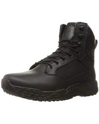 Under Armour Stellar Tac - Wide (2e) Military And Tactical Boot, Black/black/black, 2e Us