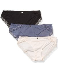 Jessica Simpson Cotton Bikini Panties Underwear Multi-pack - Multicolor