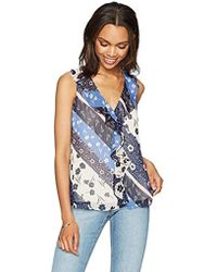 PARIS SUNDAY - Sleeveless Front Top With Ruffle And Tie Back Detail - Lyst