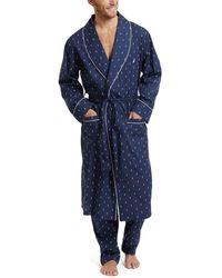 Nautica Comfort Space Dye Contrast Tee Pyjama-Oberteil - Blau