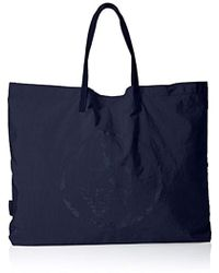 Armani Jeans - Lyda Packable Tote, 00335 Navy - Lyst