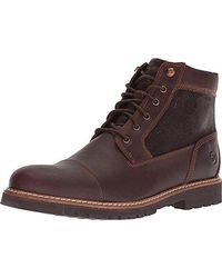 Rockport Marshall Rugged Cap Toe Ankle Boot, - Brown