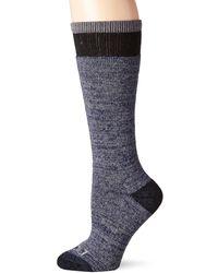 Dickies Wool Blend Free Run Moisture Control Athletic Boot Crew Socks - Blue