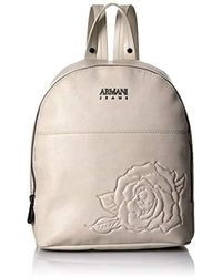 b5f066ed739 Lyst - Armani Jeans Patent Black Eco Leather Backpack in Black