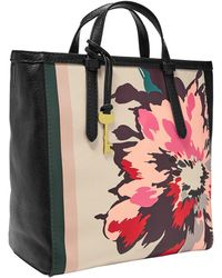 Fossil Camilla Leather Backpack Handbag - Black