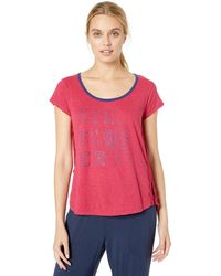 Tommy Hilfiger Short Sleeve T-shirt Pajama Top Pj - Red